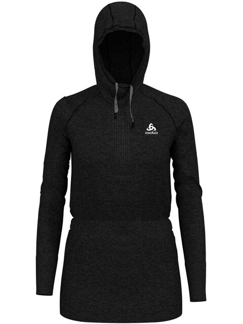 Odlo Irbis Warm Hoody Midlayer Women black-odlo steel grey